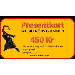 Presentkort 450 Kr