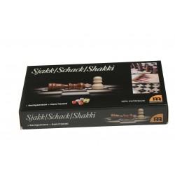 Schack, DAM och Backgammon i reseutförande