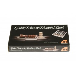Schack, helt i trä, reseutförande