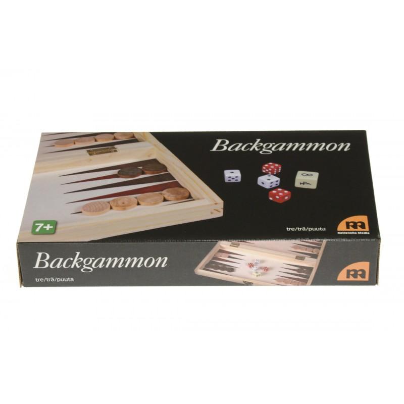 Backgammon helt i trä, reseutförande